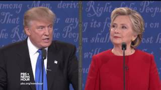Trump on being a leader who knows about money, Clinton on Trump stiffing workers