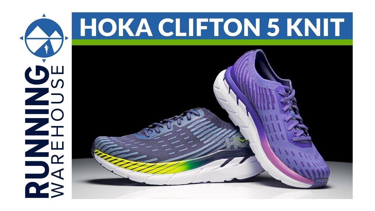 HOKA ONE ONE Clifton 5 Knit - YouTube