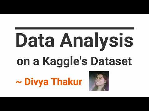 Data Analysis On A Kaggle's Dataset