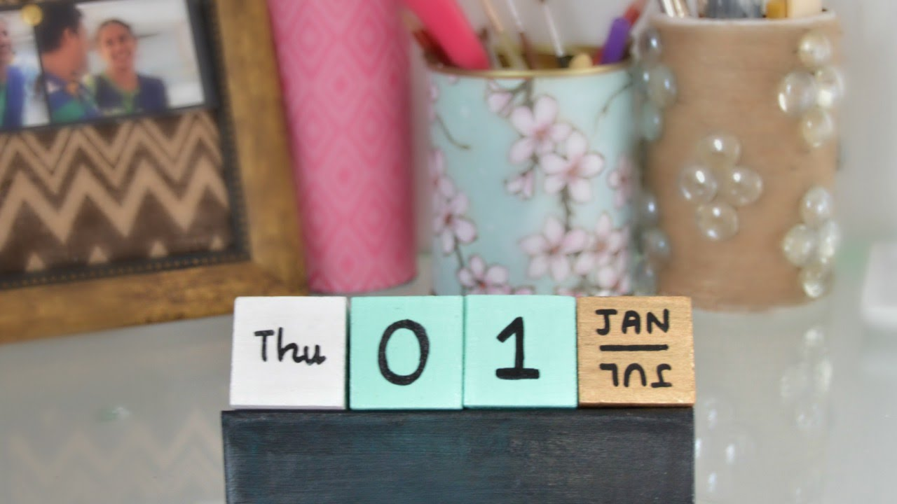 Make A Fun Cubes Calendar Diy Home Guidecentral Youtube