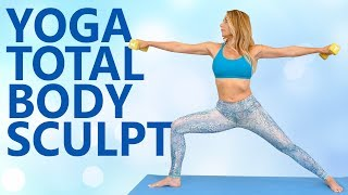 Yoga Sculpt with Becca | 20 Minute Beginners Total Body Workout, Yoga Class at Home