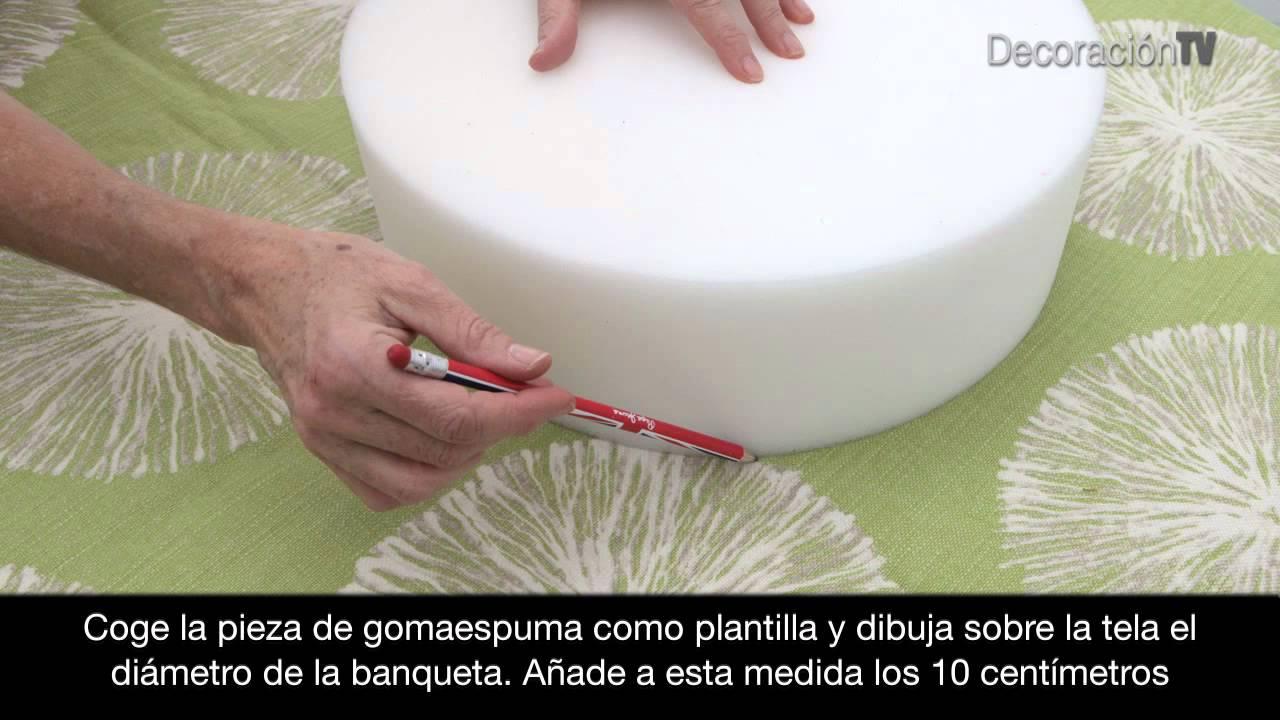 Un taburete con su asa manualidades youtube - Como tapizar una banqueta ...