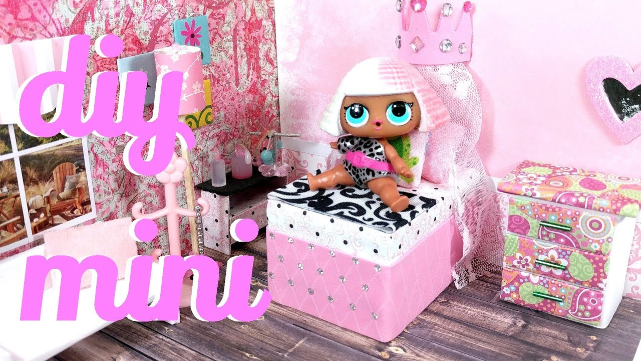 Diy Miniature Princess Bed For Lol Lps And Small Dolls Youtube
