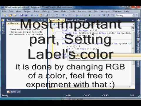 Animated Blinking label tutorial [VB NET]