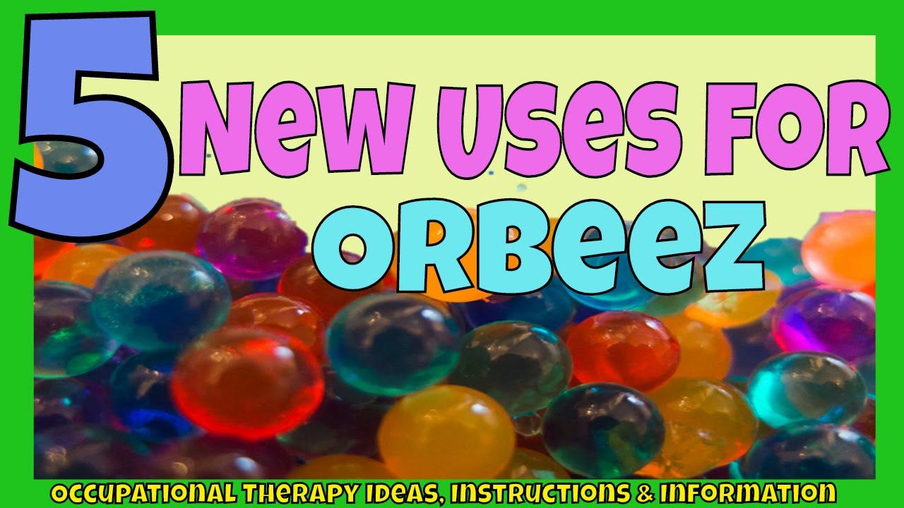 Orbeez 5 Ways To Play Fine Motor Skills Sensory Tub Bottle