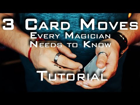 TOP 3 CARD MOVES EVERY MAGICIAN SHOULD KNOW!!! (And David Blaine's Double Lift) TUTORIAL