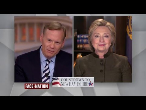 Hillary Clinton Admits Bernie Sanders Has More Experience on Face the Nation
