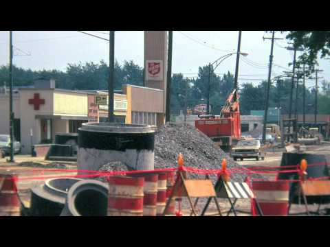 Downtown Tonawanda Before--and During--Urban Renewal (1967 + 1973)