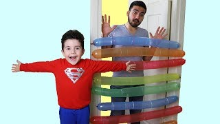 Komik Balonlar! Yusuf playing with Funny Balloons | Funny Kids Video