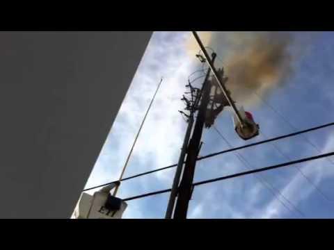 Oncor lineman A/C Explosion