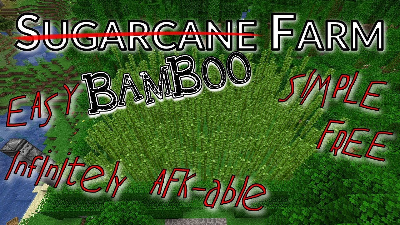 How to Grow Bamboo on Your Sugarcane Farm  Minecraft 1 14