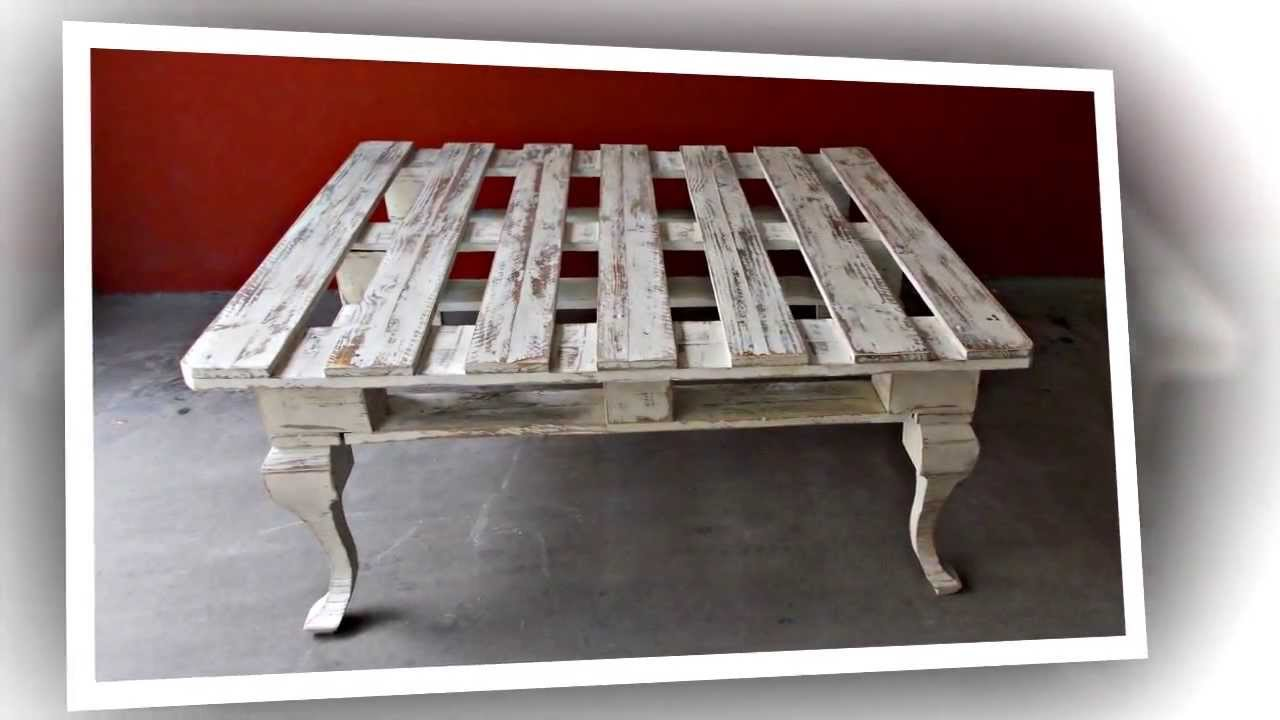 Mesita hecha con un palet coffee table made from a for Pintura para palets