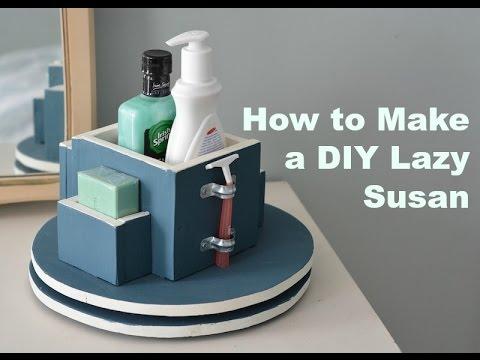 how to make a diy lazy susan organizer get organized