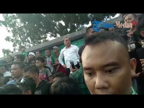 Edy Rahmayadi Jumpai Suporter yang Nyalakan Flare saat Laga PSMS Vs Persela