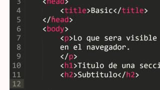 Aprende HTML - Partes basicas de una pagina Web