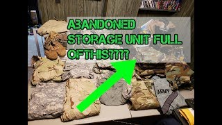 Storage unit Auction Filled with Army Ranger gear!
