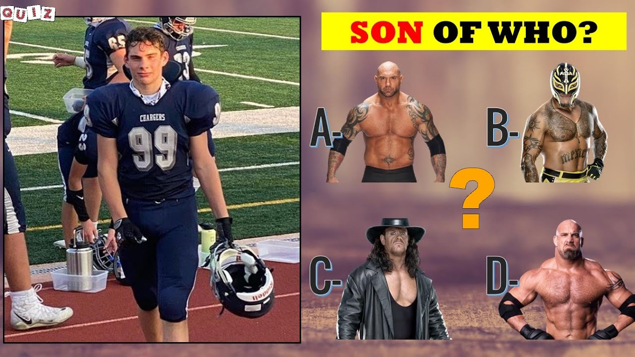 99% Fail to Guess WWE Superstars Son 2021 | WWE QUIZ Wresters Son 2021
