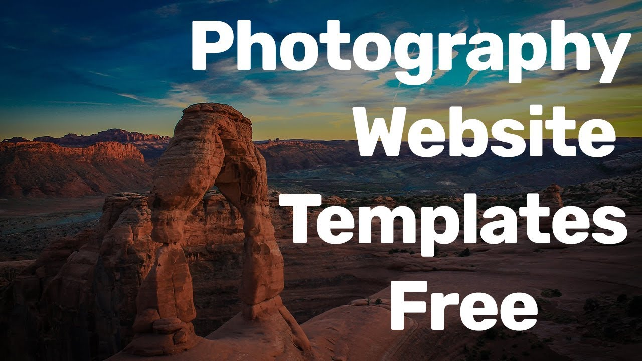 Best Free Photography Website Design Templates For Photographers