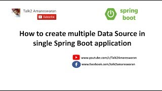 Baixar How to create Multiple Data Source in single Spring Boot application