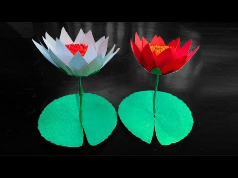 How to make a beautiful lotus flower with paper  | Origami Lotus Flower