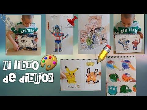 mi-libro-de-dibujos!!-pokemon,pikachu,dinosaurios,minions,transformes-y-dibujos-que-yo-inventé!!