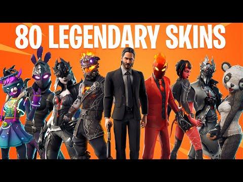 Fortnite All LEGENDARY Skins (Season 1 To 9)