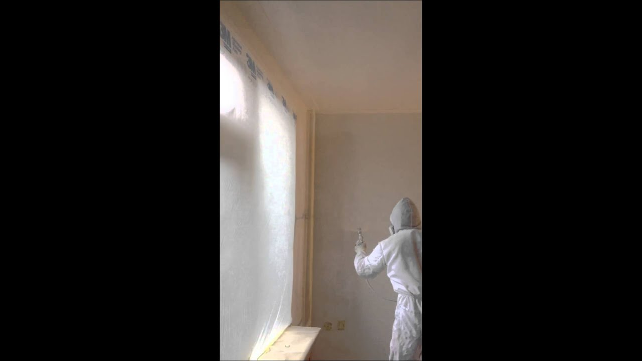 spraying interior walls with an airless sprayer youtube
