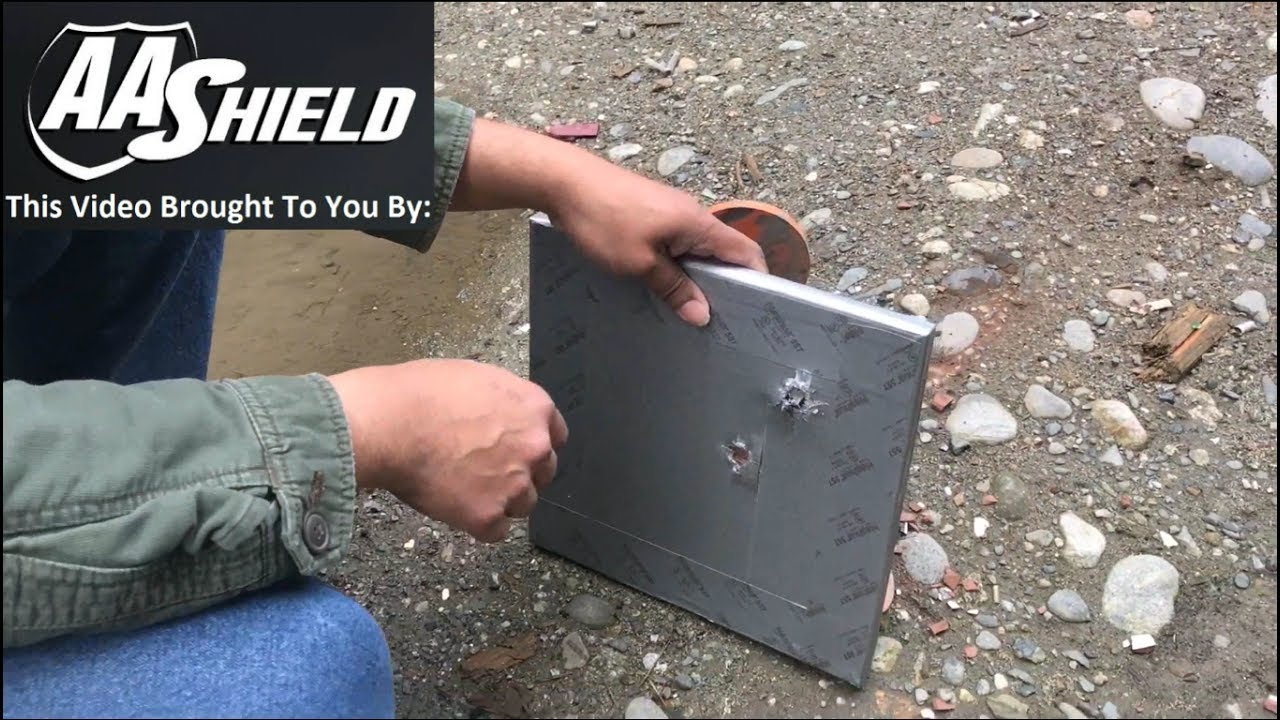 Homemade bulletproof ceramic plate test & Homemade bulletproof ceramic plate test - YouTube