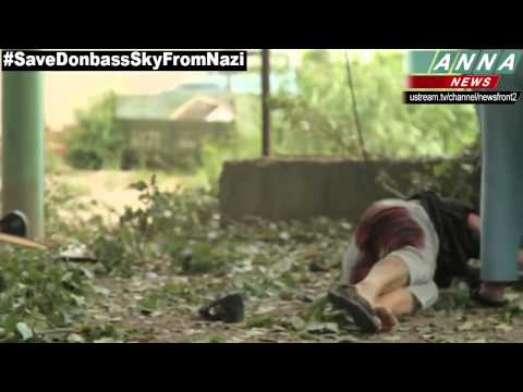 Ukraine Revolution 12.06.2014 - 18+ Slavyansk, Russian terrorists shoot in peaceful Ukrainians