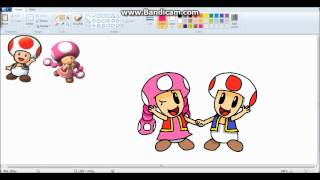 Toad and Toadette speed draw