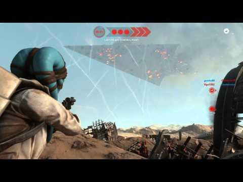 Battle of Jakku Super Star Destroyer crash (FULL EVENT) [1080p 60fps ultra settings PC]