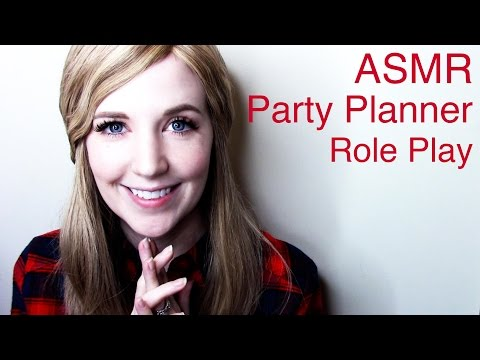 ASMR Party Planner Role Play with typing, crinkles, and tissue sounds