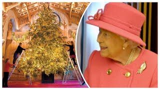 Queen's Christmas Tree Goes Up At Windsor Castle 2018! Festive Season Is Here!