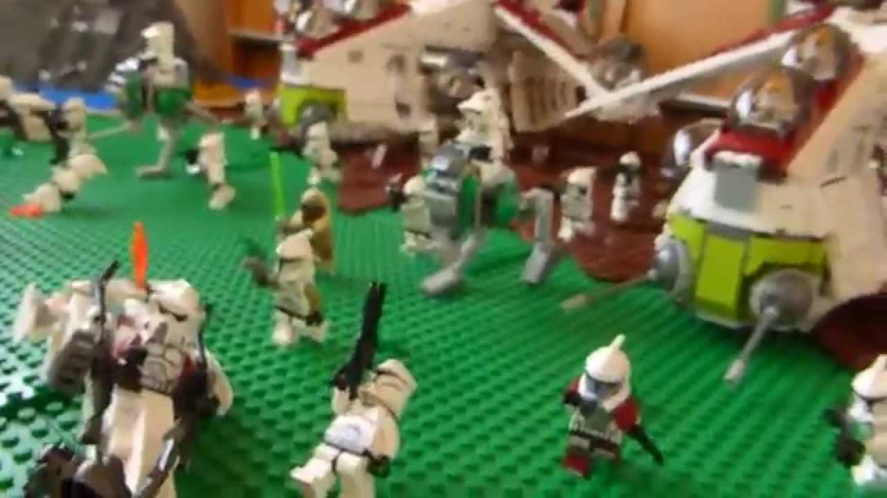 レゴ スターウォーズ ジオラマ 正面衝突 lego star wars diorama