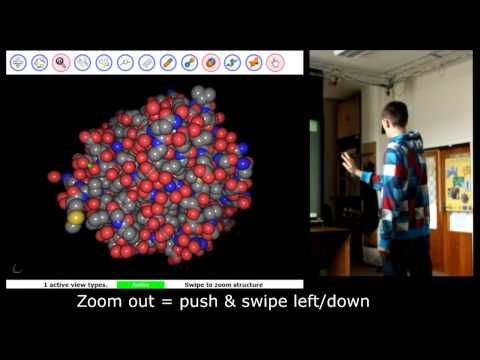Kinect NUI For Manipulating Protein Structures