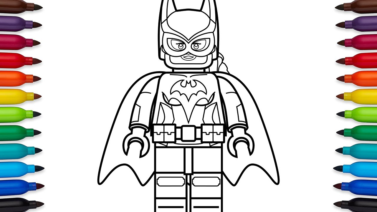 How to draw Lego Batgirl from the Lego Batman movie - coloring pages ...