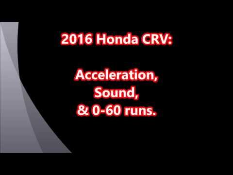 2016 Honda CRV LX AWD acceleration , 0-60 w/ data (android app...) , engine sounds