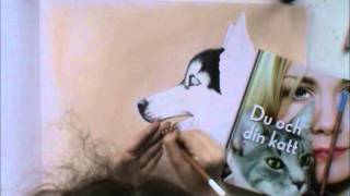 Speed Painting - Siberian Husky