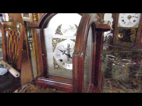 Waltham Tempus Fugit Mantel Clock-31 Day Pendulum Key Wind & Chime CLEAN