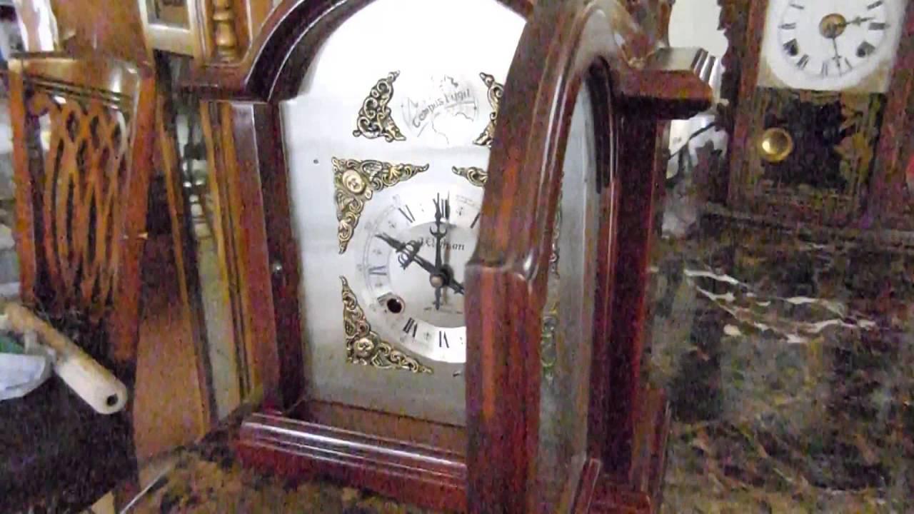 Waltham Tempus Fugit Mantel Clock 31 Day Pendulum Key Wind