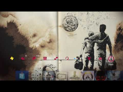 Uncharted 4 Ink Dynamic Theme Playstation 4 Preview