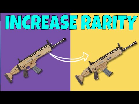 Fortnite - How To INCREASE RARITY In Weapons! Fortnite Save The World