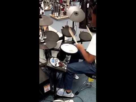 music store drum session
