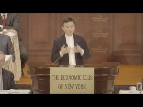 Day After Tomorrow is beautiful - Message from  Jack Ma Economic CLub