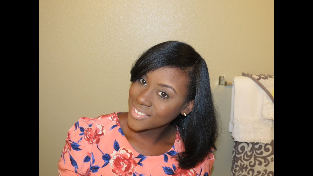 Natural Hair Flat Iron Styles: How I Maintain My Straightened Natural Hair & Length