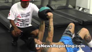 marcos maidana training for mayweather strength and conditioning - EsNews