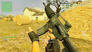 Counter Strike Source - Zombie Riot Mod online gameplay on Harvest map
