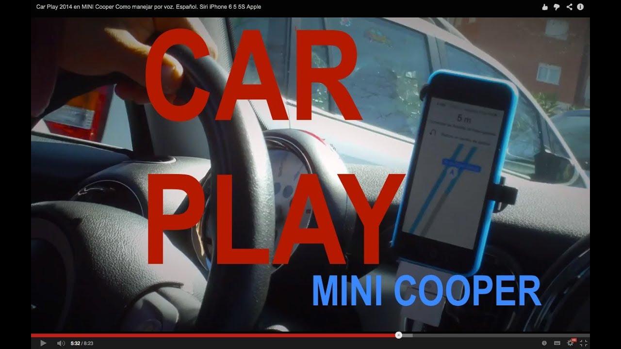 Car Play 2014 en MINI Cooper o manejar por voz CARPLAY