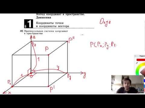 46. Прямоугольная система координат в пространстве