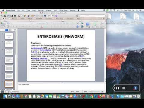 Enterobiasis (pinworm) Treatment Lecture